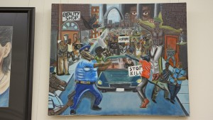 Artwork depicting cops as animals permanently removed from Capitol complex